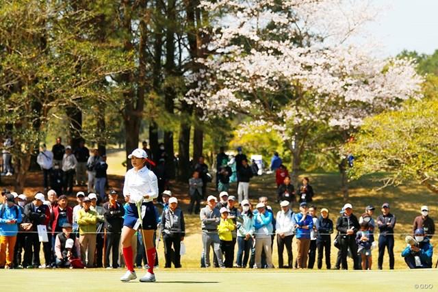 2019年 アクサレディスゴルフトーナメント in MIYAZAKI 最終日 河本結 20歳の河本結が桜咲く宮崎で初優勝した