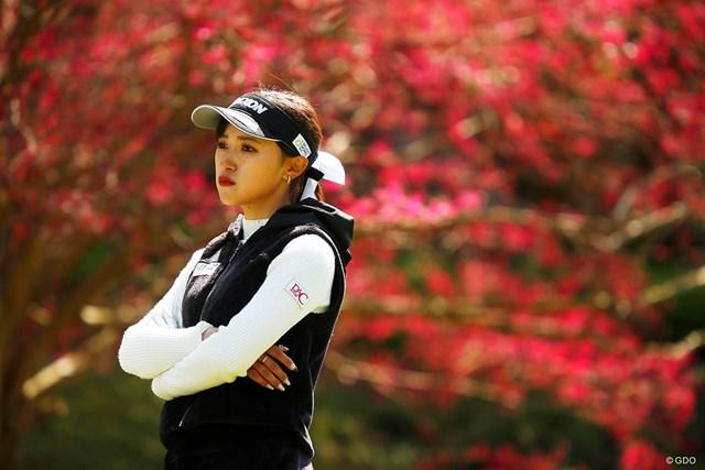 2019年 アクサレディスゴルフトーナメント in MIYAZAKI 最終日 臼井麗華 臼井麗華はバーディチャンスをものにできず悔しがった