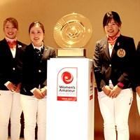 前年大会のリベンジに挑む西村優菜(左から3番目) 2019年 アジアパシフィック女子アマチュア選手権 会見