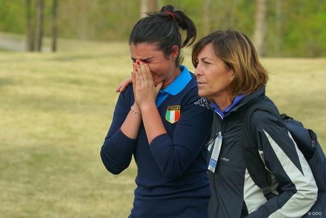 悲劇の脱落者となったアレシア・ノビリオは涙を流した