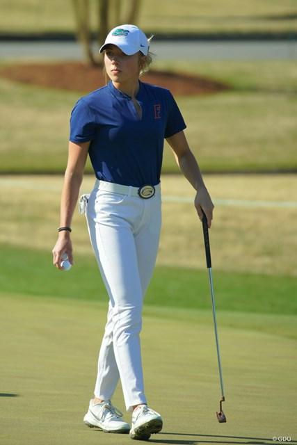 2019年 オーガスタナショナル女子アマチュア 2日目 シエラ・ブルックス ゴルフがうまくて美人で、スタイルも文句なし!12頭身ぐらいあるんじゃない?