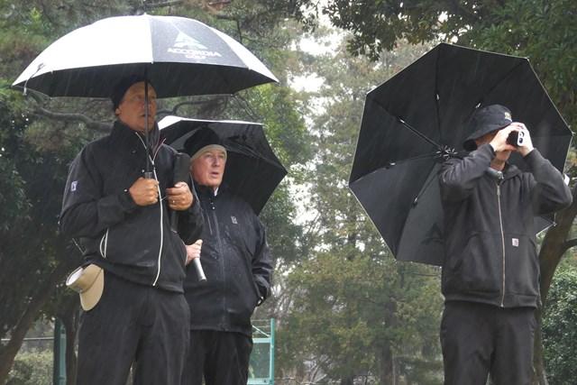ZOZO選手権開催のため、アコーディア・ゴルフ習志野CCで視察を行うPGAツアーのスタッフ(提供:ゴルフネットワーク)
