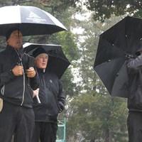 ZOZO選手権開催のため、アコーディア・ゴルフ習志野CCで視察を行うPGAツアーのスタッフ(提供:ゴルフネットワーク) 2019年 ZOZO選手権 PGAツアーのスタッフ