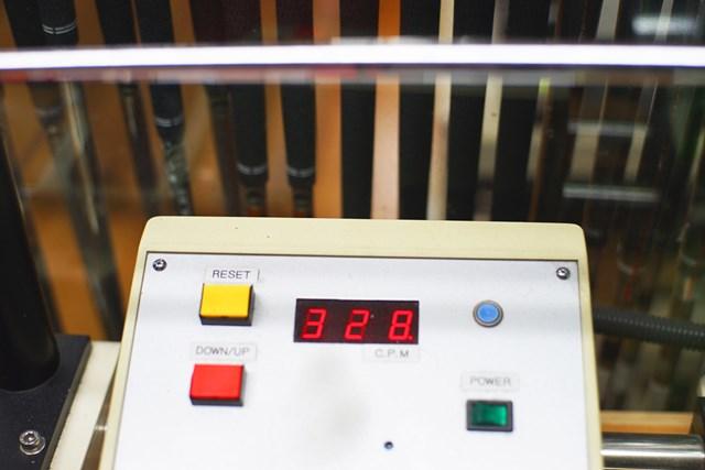 「NSプロ モーダス3ツアー105」(S)の振動数は328cpm。シャフトのライアップが非常に豊富だ