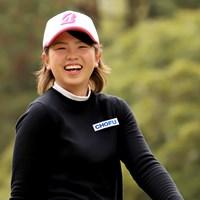 20歳のルーキー・木下彩が首位発進を決めた ※提供:日本女子プロゴルフ協会 2019年 Hanasaka Ladies Yanmar Golf Tournament 初日 木下彩