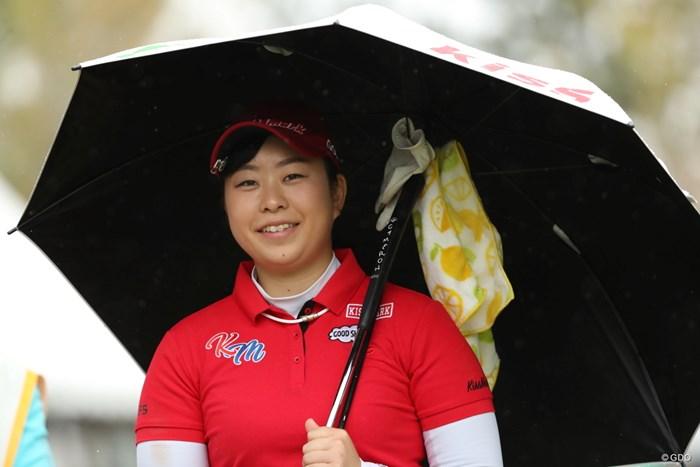 傘をさしながらのスマイル 2019年 スタジオアリス女子オープン 最終日 武尾咲希