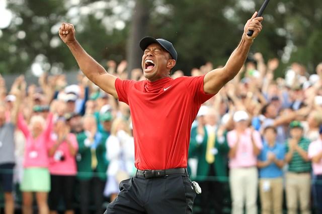 2019年 マスターズ 最終日 タイガー・ウッズ タイガー・ウッズがマスターズを制し、完全復活を遂げた(Andrew Redington/Getty Images)