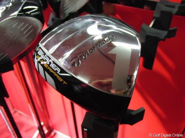 ギアニュース 取材情報 テーラーメイド2010新製品_01 BURNER SUPERFASTドライバー シンプルな銀ソール。直ドラしない限り番手塗装は大丈夫そう。