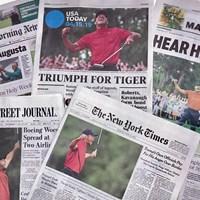 マスターズ翌日の米国の紙面はタイガー・ウッズの話題で埋め尽くされた 2019年 マスターズ 最終日 米国の新聞