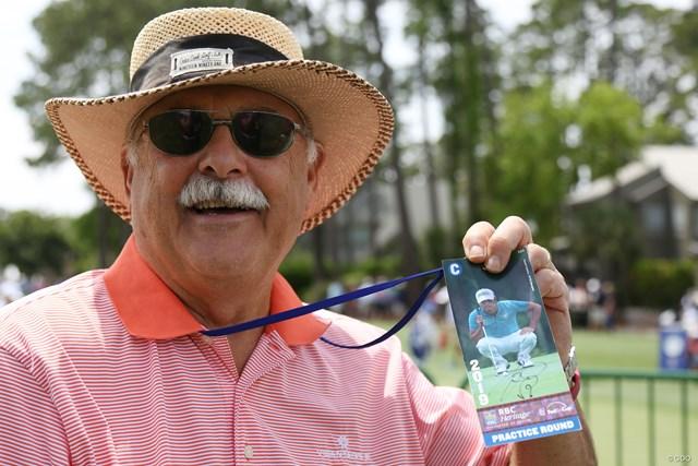「サインもらったよ」。チケットにはディフェンディングチャンピオンをプリント