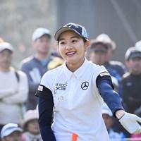 朝からこの笑顔で癒やされました 2019年 KKT杯バンテリンレディスオープン 2日目 三浦桃香