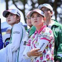 今週も優勝争いに加わった吉本ひかる(右) 2019年 KKT杯バンテリンレディスオープン 最終日 吉本ひかる