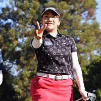 ピースされたら載せないとね 2019年 KKT杯バンテリンレディスオープン 最終日 安田彩乃