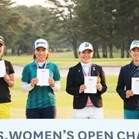 4人が全米女子オープンの切符を手にした 2019年 全米女子オープン 事前 上野菜々子  岡山絵里 吉田優利 天本遥香