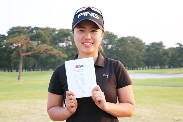 2オーバー3位タイで「全米女子オープン」出場を決めたアマチュアの上野菜々子