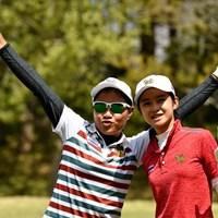 カン・ブンナボディとリナ・タテマツ(提供:WAAP)  2019年 アジアパシフィック女子アマチュア選手権 事前 タイの二人