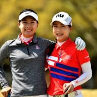 ユ・サンホウ(左)とユ・チャンホウ姉妹(提供:WAAP) 2019年 アジアパシフィック女子アマチュア選手権 事前 台湾の姉妹