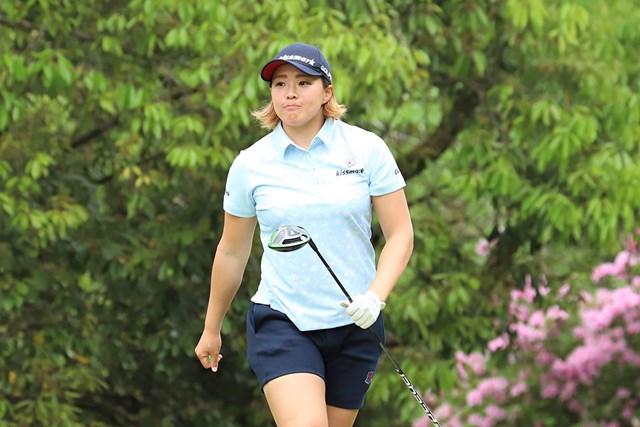 首位タイで発進した山本景子(提供:日本女子プロゴルフ協会)