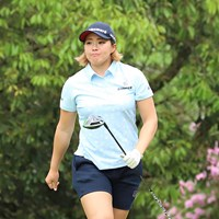 首位タイで発進した山本景子(提供:日本女子プロゴルフ協会) 2019年 九州みらい建設グループレディースゴルフトーナメント 初日
