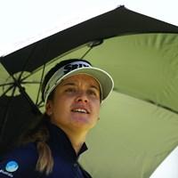 ステーシー・ルイスと並び首位で発進したハンナ・グリーン(Yong Teck Lim/Getty Images) 2019年 ヒューゲルAirプレミア LAオープン 初日 ハンナ・グリーン