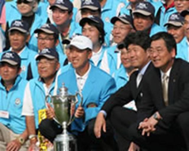 2005年 プレーヤーズラウンジ S.K.ホ 「一度は日本ツアーで頂点に立ってみたい」と意気込む韓国のS.K.ホ。