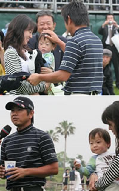 今まで家族の前で優勝シーンを見せたことのなかった藤田。愛する家族の前で優勝という最高の結果を残した