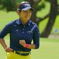 ゴルフが楽しくて仕方ないって感じでしたね。ずっと笑顔だったのが印象的でした。 2019年 フジサンケイレディスクラシック 最終日 藤田光里