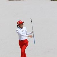 7番は距離のあるバンカーからナイスパーセーブ 2019年 アジアパシフィック女子アマチュアゴルフ選手権 最終日 安田祐香