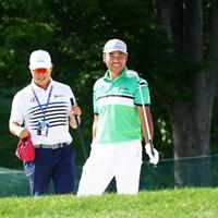 早藤将太キャディと和気あいあい 2019年 ウェルズファーゴ選手権 事前 松山英樹