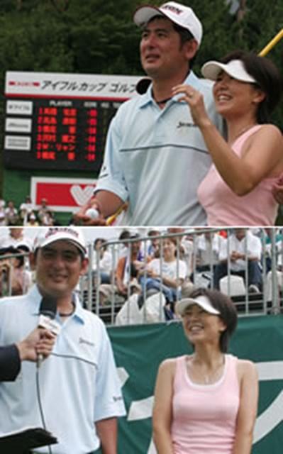2005年 プレーヤーズラウンジ 高橋竜彦 高橋竜彦と妻・牛渡葉月プロ