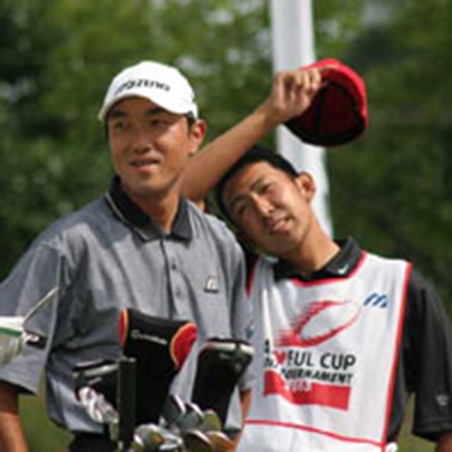 2005年 プレーヤーズラウンジ 佐藤信人 次回、佐藤は9月のフジサンケイクラシックで再び小畑さんと組む予定