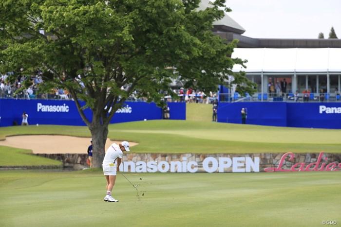 木が邪魔そうだけどピン位置は右です 2019年 パナソニックオープンレディースゴルフトーナメント 2日目 原江里菜