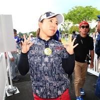 雷の中おどけて見せてギャラリーも笑ってたよ 2019年 パナソニックオープンレディースゴルフトーナメント 最終日 吉田弓美子