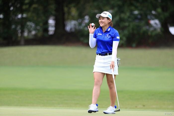 キュートに決めてみました 2019年 パナソニックオープンレディースゴルフトーナメント 最終日 永井花奈