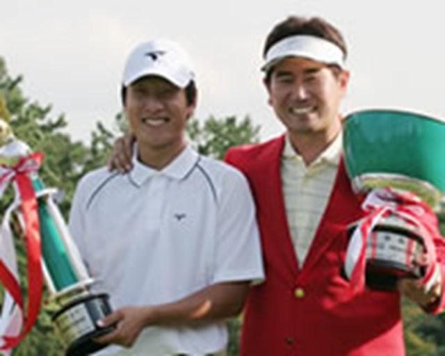 伊藤涼太を抑えベストアマに輝いた金庚泰(左)と、大会レコードで優勝したY.E.ヤン(右)。