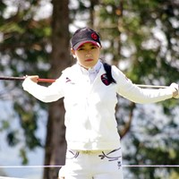 日差しを浴びるキム・チャンミ 2019年 ディライトワークス女子マッチプレー選手権 最終日