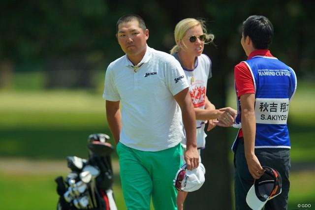 2019年 アジアパシフィックオープン選手権ダイヤモンドカップゴルフ 2日目 秋吉翔太 複数年シードをとっても謙虚に。秋吉翔太は今年も春先に丸刈り姿