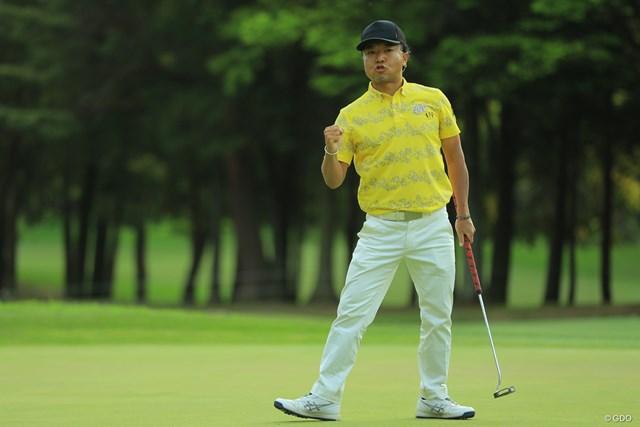 片山晋呉は2日目に「69」。最終18番でバーディフィニッシュを決めた
