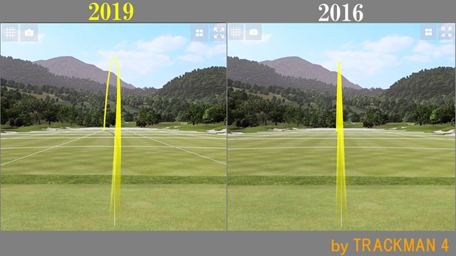 APEX アイアン/ヘッドスピード別試打 前作(2016)より若干高さが出ている