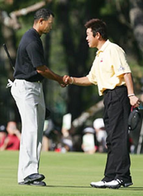 """急遽タイガー・ウッズと一緒にラウンドし、「一生の宝物」となる貴重な経験をした""""日本一の幸せもの""""の中川勝弥"""