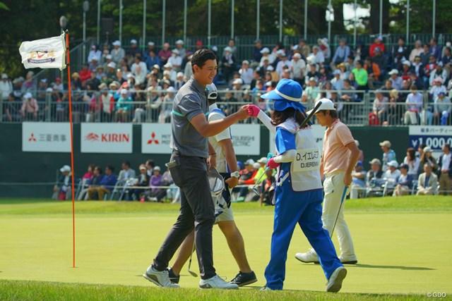 2019年 アジアパシフィックオープン選手権ダイヤモンドカップゴルフ 最終日 デンゼル・イエレミア 最終18番は、チップインバーディ締め!4位タイフィニッシュ。