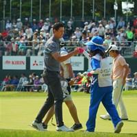 最終18番は、チップインバーディ締め!4位タイフィニッシュ。 2019年 アジアパシフィックオープン選手権ダイヤモンドカップゴルフ 最終日 デンゼル・イエレミア