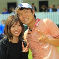 ラブラブだねぇ。 2019年 アジアパシフィックオープン選手権ダイヤモンドカップゴルフ 最終日 浅地洋佑
