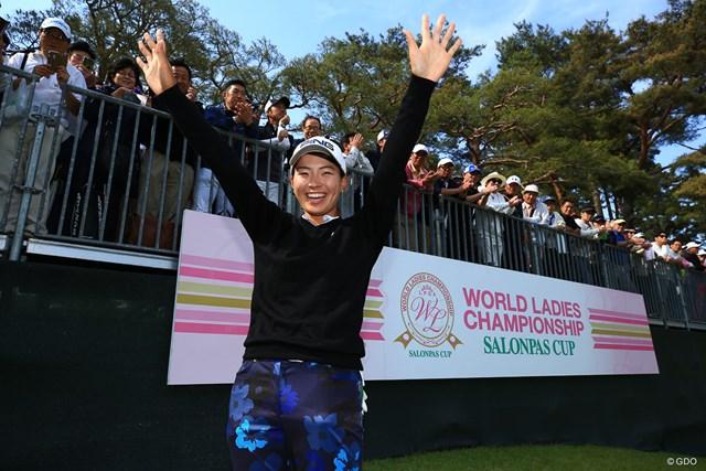 初めて世界ランキングトップ100に入った渋野日向子