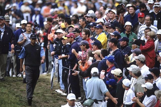 ウッズのプレーに観客は魅了された(Robert Beck/Sports Illustrated/Getty Images)