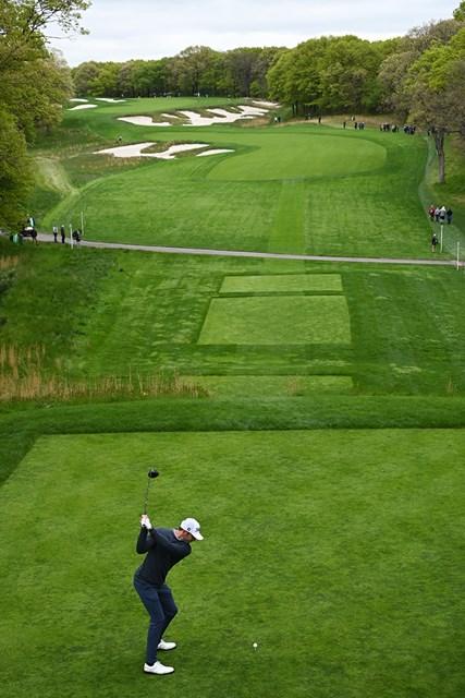 2019年 全米プロゴルフ選手権 事前 マックス・ホマ ロングドライブコンテストで1位になったマックス・ホマ(Stuart FranklinGetty Images)