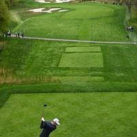 ロングドライブコンテストで1位になったマックス・ホマ(Stuart FranklinGetty Images) 2019年 全米プロゴルフ選手権 事前 マックス・ホマ