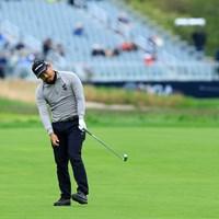15番ホールは484ヤードのパー4。平なフェアウェイからグリーンへはかなりの打ち上げで「届かねえよ?」 2019年 全米プロゴルフ選手権 事前 小平智