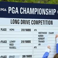 2週間前にツアー初優勝を遂げたホマがドラコン大会で優勝した 2019年 全米プロゴルフ選手権 事前 マックス・ホマ