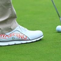 """""""WARNING""""はブラックコースのアイコンでもある看板の文字だ 2019年 全米プロゴルフ選手権 事前 フットジョイ"""